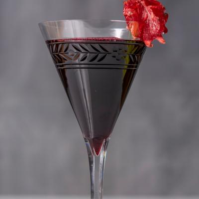 un verre d'Hibiscus - Bissap