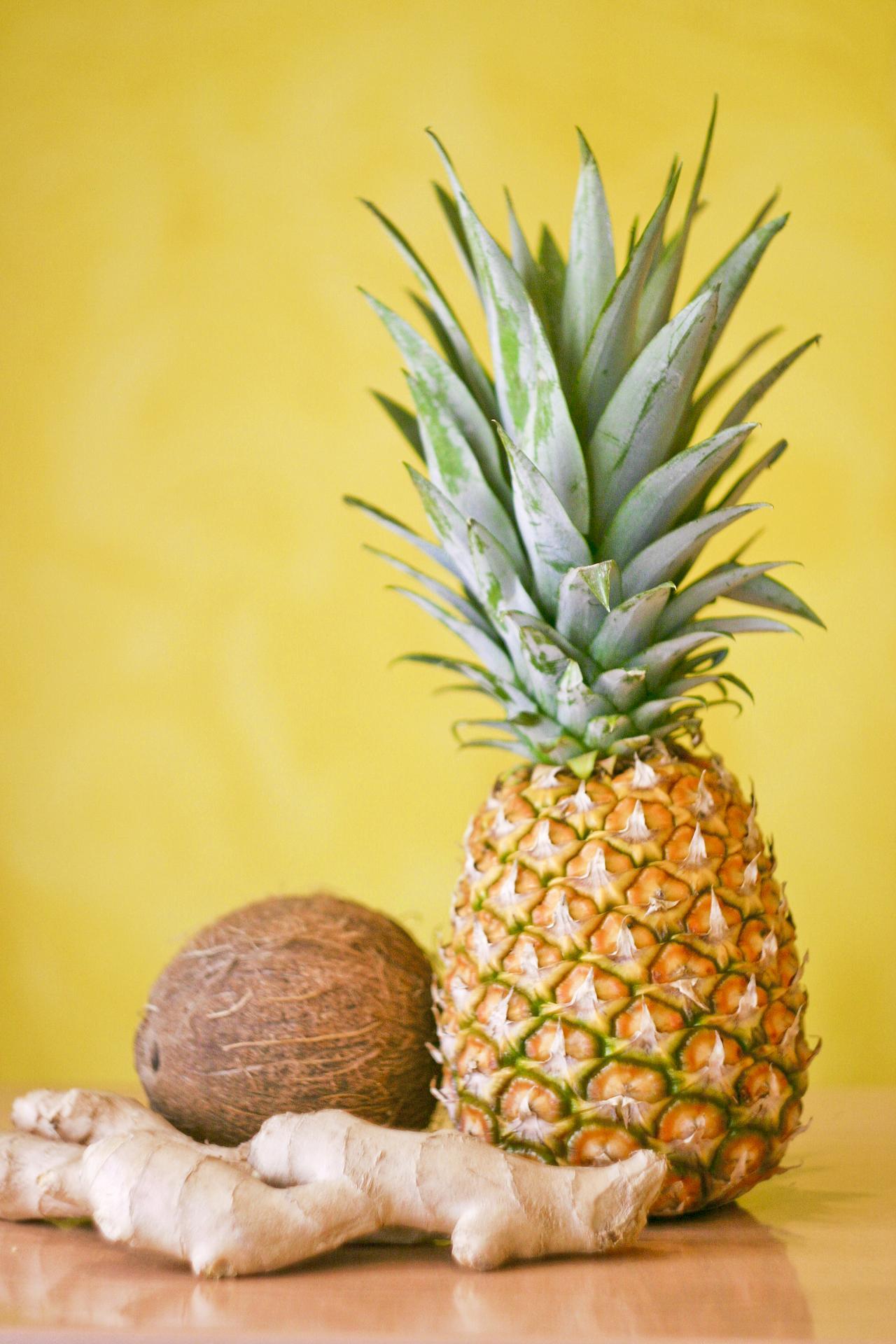 Ingrédients Ananas, gingembre, coco - Savela Marseille