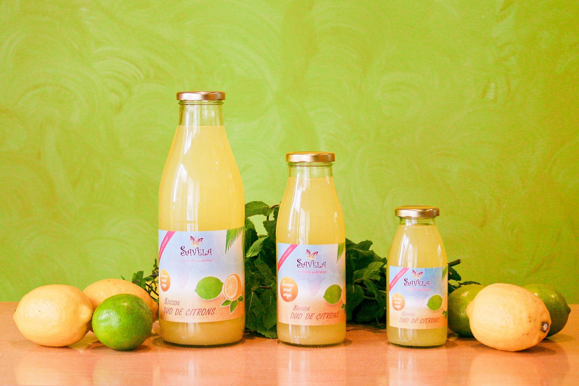 Boisson duo de citrons et ses ingrédients - Savela Marseille