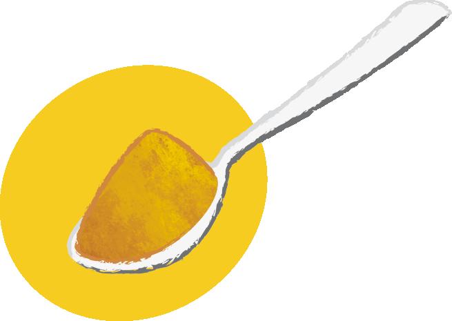 Cuillère de poudre de gingembre : moyen, double dose - Savela Marseille