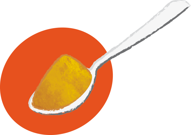 Cuillère de poudre de gingembre : fort, triple dose - Savela Marseille