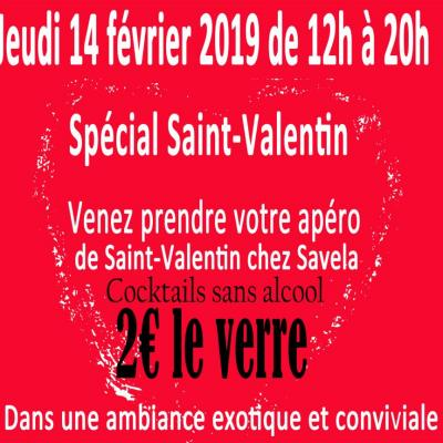 Invitation st valentin promo 2 cocktail sans alcool